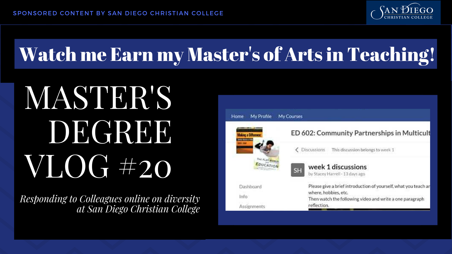 Master's Vlog #20 - Diversity and Classism Quiz and Bringing