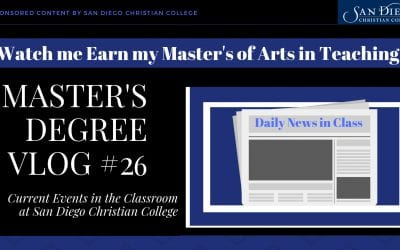 Master's Degree Vlog #26: Bringing Current Events into the Classroom