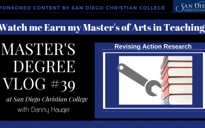 Master's Degree Vlog #39: Making Revisions to Your Education Action Research Plan